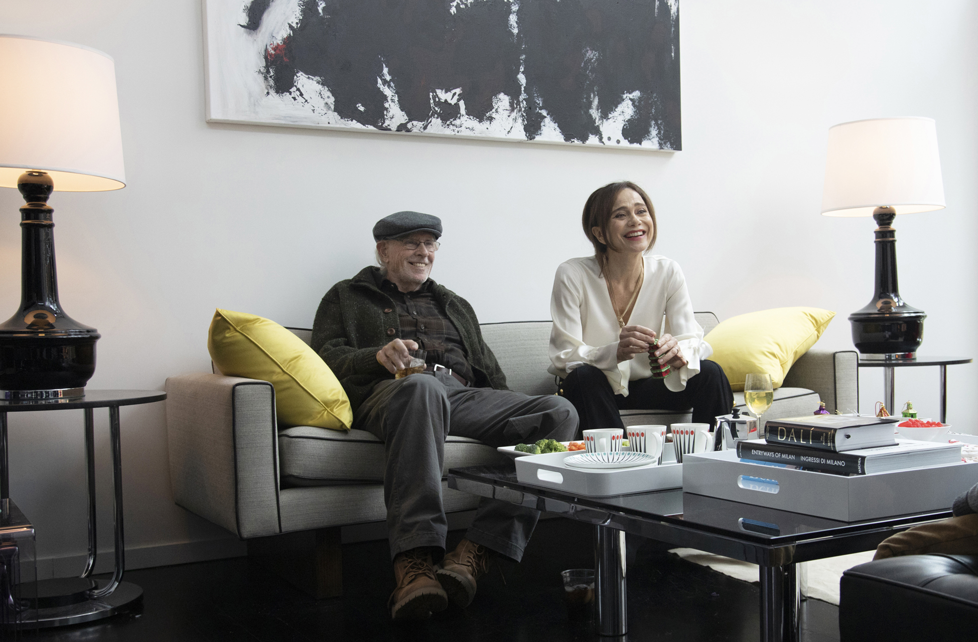 Richard (Bruce Dern) and Claire (Lena Olin) attempt to reconnect with family over a Christmas weekend in THE ARTIST'S WIFE. Photo by Michael Lavine.