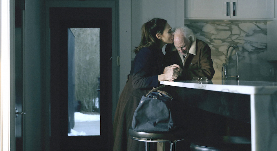 Claire (Lena Olin) and Richard (Bruce Dern) share a loving moment in THE ARTIST'S WIFE. Photo by Michael Lavine.